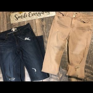 2 pair of distressed Refuge jeans sz 4